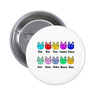 Cuenta de gatos españoles chapa redonda de 5 cm