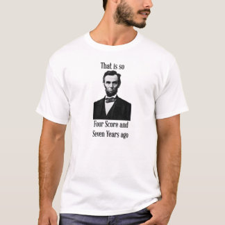 Cuenta de Lincoln cuatro y hace 7 años de camiseta