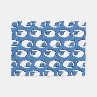 Cuenta del azul de las ovejas, manta del paño