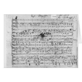 Cuenta manuscrita para el 'Trost mentido Tarjeta De Felicitación