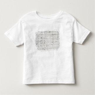 Cuenta para el 3ro movimiento de la 5ta sinfonía camiseta de bebé