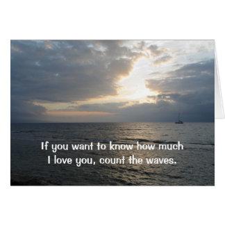 Cuente la tarjeta de las ondas te amo