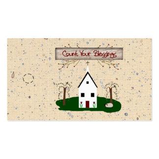 Cuente su etiqueta colgante de la iglesia de las b plantillas de tarjetas personales