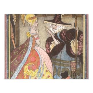 Cuento de hadas, Cenicienta y hada madrina del Invitación 10,8 X 13,9 Cm