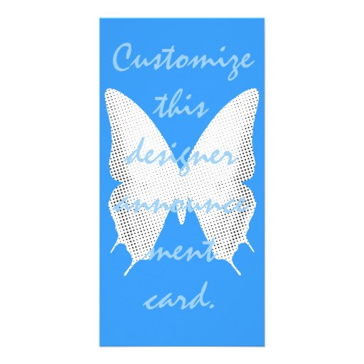 Cuento de la mariposa del cordón tarjetas personales con fotos