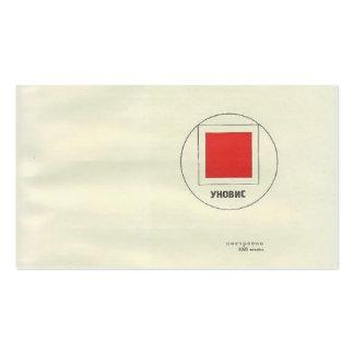 Cuento del EL Lissitzky- 'Suprematic cerca de dos  Tarjetas De Negocios