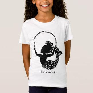 Cuerda de salto de little mermaid camiseta