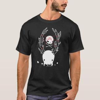 Cuerda espeluznante del cráneo de las medusas de camiseta