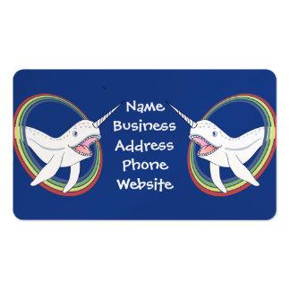 Cuerno lindo Narwhal con el dibujo animado del Tarjetas De Visita