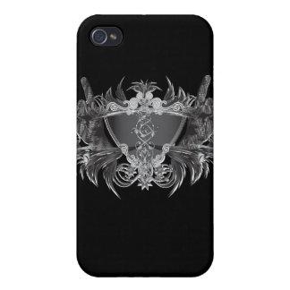 Cuernos de metales pesados iPhone 4 coberturas
