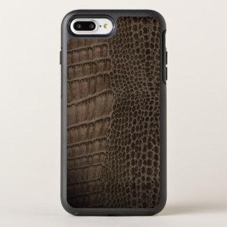 Cuero clásico del reptil del cocodrilo (falso) funda OtterBox symmetry para iPhone 7 plus