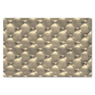 Cuero copetudo metálico de lujo del oro de la papel de seda