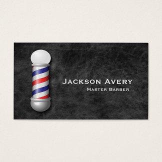 Cuero de poste del peluquero de la peluquería de tarjeta de visita