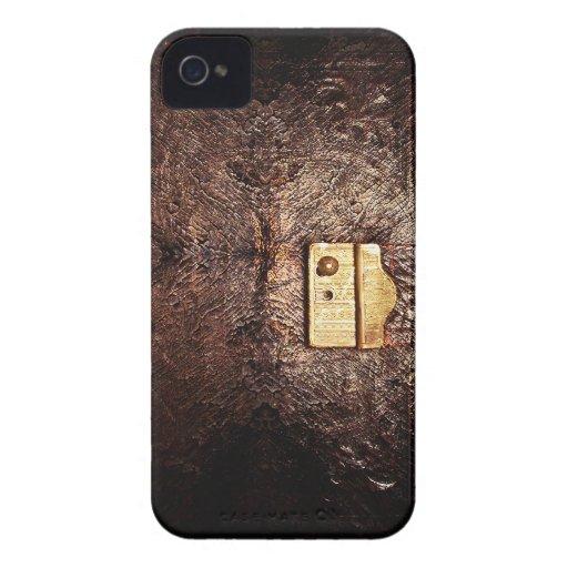Cuero del vintage Case-Mate iPhone 4 protector