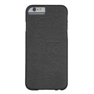 Cuero negro funda de iPhone 6 barely there