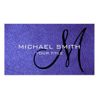 Cuero violeta tarjetas de visita