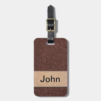 Cuero y placa de identificación equipados etiquetas para maletas