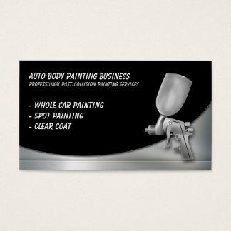 Cuerpo auto que pinta al profesional del   tarjeta de negocios