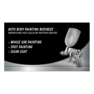 Cuerpo auto que pinta al profesional del | tarjetas de visita