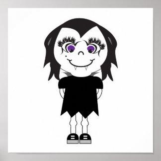 Cuerpo completo del chica del vampiro póster