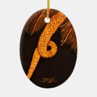 Cuerpo de bronce del dragón adorno navideño ovalado de cerámica