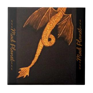 Cuerpo de bronce del dragón azulejo cuadrado pequeño