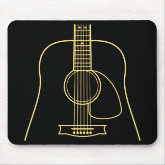 Cuerpo de la guitarra acústica alfombrilla de ratón