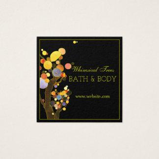 Cuerpo y baño rústicos modernos de los árboles del tarjeta de visita cuadrada