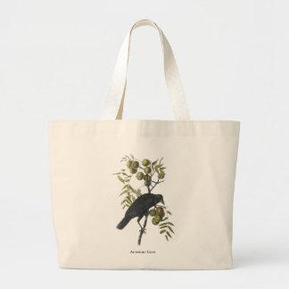 Cuervo americano, John James Audubon Bolsa De Tela Grande