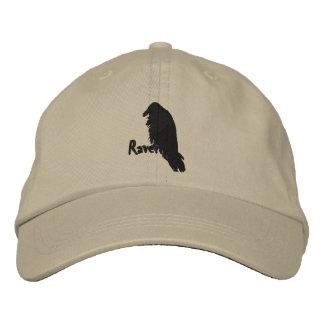 Cuervo bordado en el gorra del cuervo gorra de béisbol