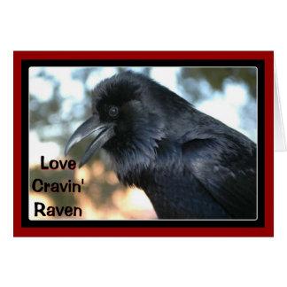 Cuervo de Cravin del amor Tarjeta De Felicitación