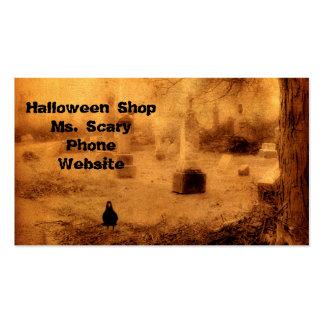 Cuervo de Halloween Tarjetas De Visita