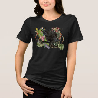 Cuervo de la camiseta del animal del alcohol de la