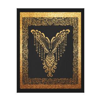 Cuervo de oro lienzo