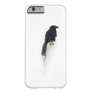 """Cuervo del """"testigo"""" - en nieve del invierno funda de iPhone 6 barely there"""