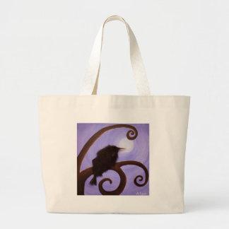 Cuervo en claro de luna bolsa