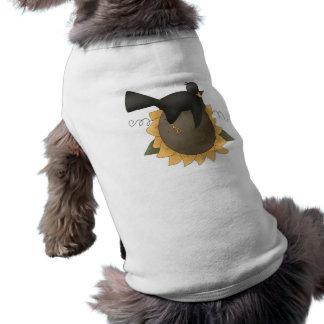 Cuervo en el girasol ropa macota