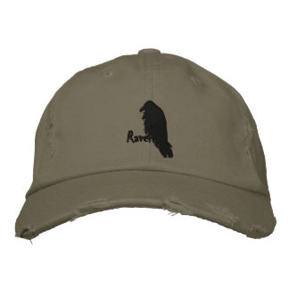 Cuervo en el gorra bordado cuervo gorra de béisbol bordada
