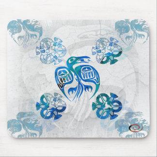 Cuervo Mousepad azul nativo Tapete De Ratones
