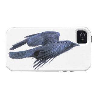 Cuervo negro que vuela gótico, céltico, Wiccan Case-Mate iPhone 4 Carcasas