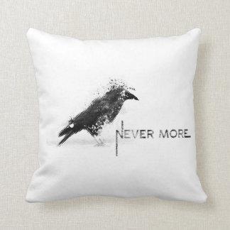 Cuervo never more cojín decorativo