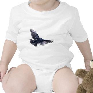 Cuervo que vuela traje de bebé