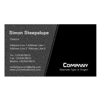 Cuesta escarpada - textura grabada en relieve gris tarjetas de visita
