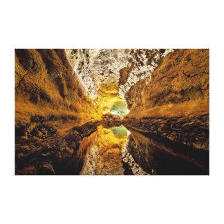 Cueva de España de las islas Canarias de Cueva de  Impresión De Lienzo