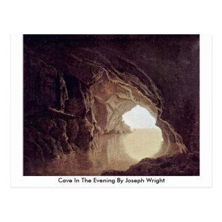Cueva por la tarde de José Wright Postal