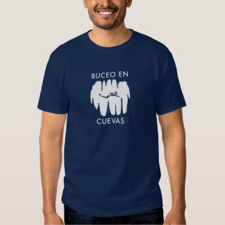 ¡Cuevas del en de Buceo!  ¡Salto de la cueva en el Camisetas