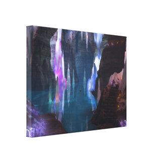 Cuevas que brillan por la impresión de la lona de