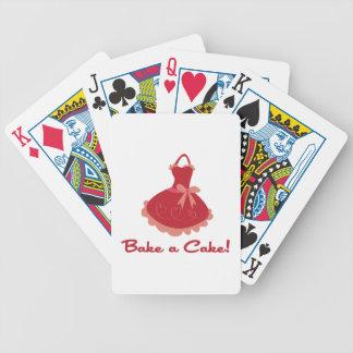 Cueza una torta cartas de juego