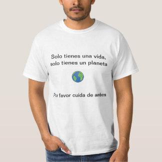Cuida de tu planeta camiseta