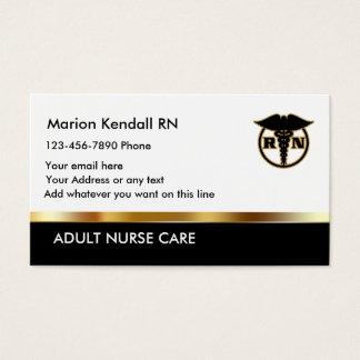 Cuidado adulto con clase de la enfermera tarjeta de visita
